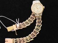 Часы '' Чайка'' с золотым браслетом Б. кр-57 6шт. 0,036ct Золото 585 (14K) вес 21.70 г