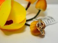 Кольцо с бриллиантом Золото 585 (14K) вес 2.98 г