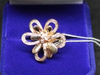 Кольцо (цветок)ск. Золото 585 (14K) вес 5.78 гр.