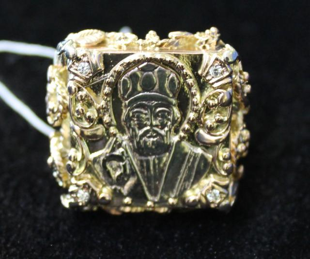 Перстень Золото 585 (14K) вес 17.80 гр.