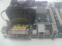 Материнская плата ASRock P4VM900-SATA2 + Процессор Intel Celeron 2.4 Ghz