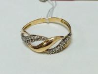 Кольцо с множеством белых камней Золото 585 (14K) вес 1.40 гр.