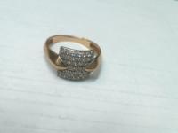 Кольцо скамнями квадрат Золото 585 (14K) вес 2.23 г