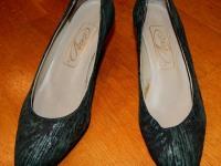 Женские туфли Люкс (Калуга) зеленые