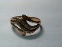 Кольцо с камнями Золото 585 (14K) вес 3.07 гр.