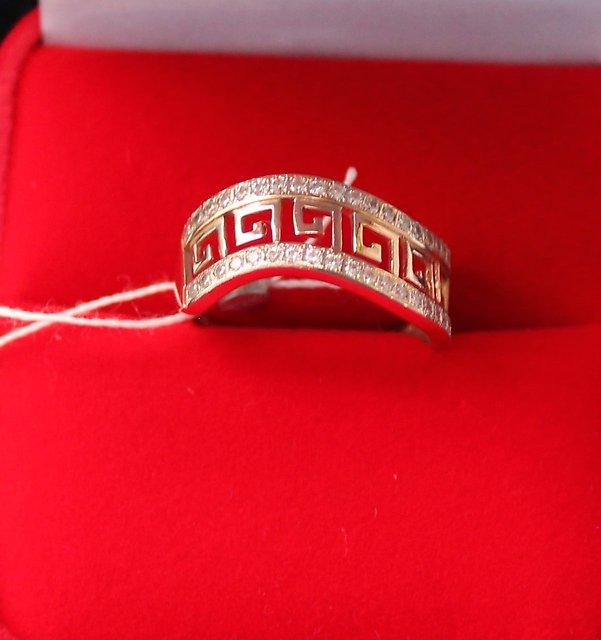 Кольцо  ск  бел. 18 р Золото 585 (14K) вес 3.02 гр.