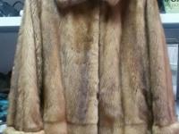 Шуба - Норка (Цвет коричневый, длина выше колена, без капюшона, р-р 46) + пакет, №204