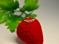 Кольцо с камнями Золото 585 (14K) вес 1.03 г