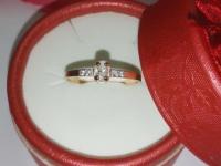 Кольцо Золото 375 (9K) вес 1.02 гр.