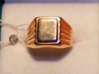 Печатка муж.без камня Золото 585 (14K) вес 6.02 г