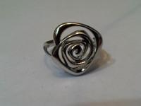 Кольцо роза родированное Серебро 925 вес 3.17 гр.
