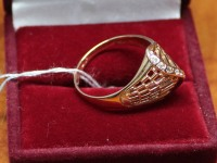 Кольцо с белыми камнями. Золото 585 (14K) вес 3.10 г