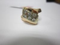 Кольцо с 6-ю бел.кам Золото 585 (14K) вес 2.43 гр.