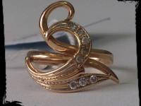 Кольцо Золото 585 (14K) вес 2.44 гр.