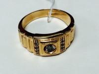 Печатка с 7-ю белыми камнями Золото 585 (14K) вес 6.12 гр.