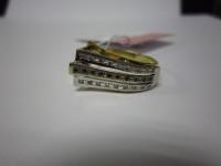 Кольцо с 18-ю бриллиантами(+3600) Золото 585 (14K) вес 2.62 г
