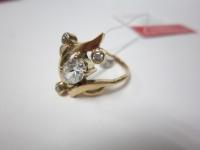 Кольцо с 4-мя бел.кам Золото 585 (14K) вес 3.31 гр.
