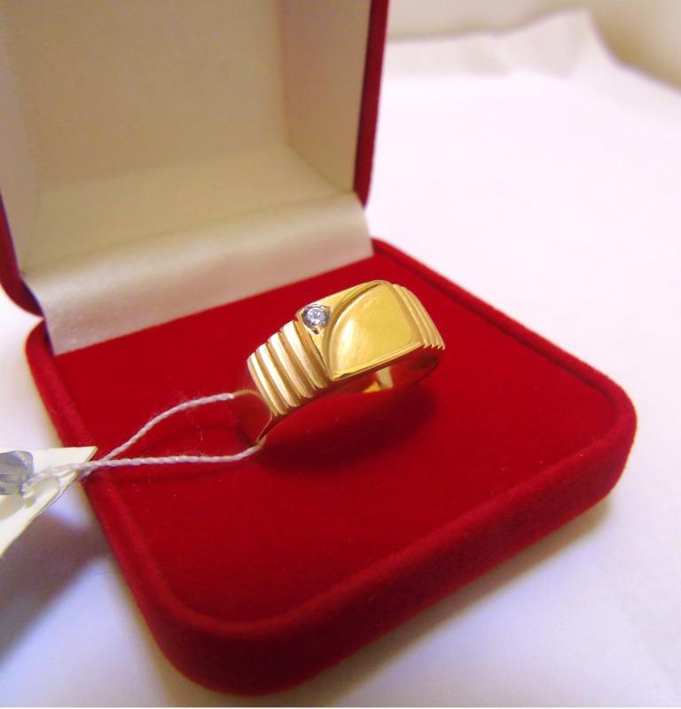 Кольцо 1Н 1166 Золото 585 (14K) вес 4.42 гр.