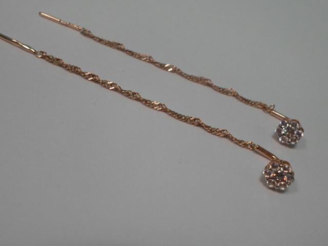 Серьги Золото 585 (14K) вес 1.25 гр.
