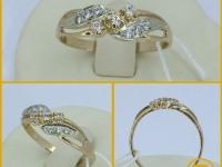 Б387 кольцо с/к Золото 585 (14K) вес 2.35 г