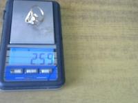 Кольцо с 2 больш и 6 мал синт вст Золото 585 (14K) вес 2.59 г