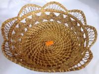 Хлебница плетеная кругл узор