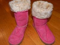 Детские зимние сапожки розовые