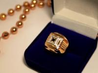 Кольцо с/к Золото 585 (14K) вес 5.89 г