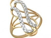Кольцо 01-0238(4394) Р-р:18.5 Золото 585 (14K) вес 2.72 гр.