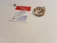 Кольцо с множеством белых камней Золото 585 (14K) вес 2.58 г
