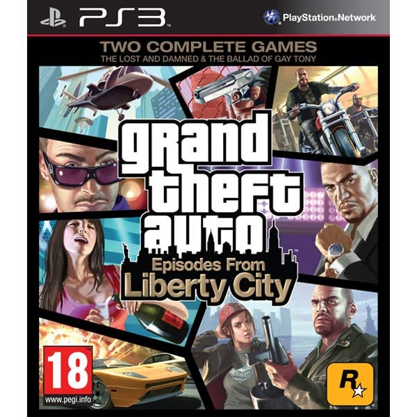 Диск PS3 Grand Theft Auto IV: Episodes From Liberty City