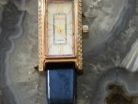 """Часы """"НИКА"""" кож ремень. Золото 585 (14K) вес 15.68 г"""