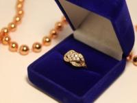 Кольцо с/к Золото 585 (14K) вес 2.48 г