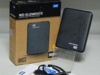 Внешний жесткий диск WESTERN DIGITAL Elements Portable 500GB, коробка, кабель, рук-во