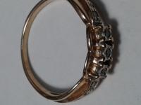 Кольцо с 7-ю бриллиантами 0,04К Золото 585 (14K) вес 1.91 г