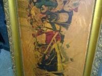 Картина на бумаге в багете