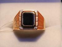 Кольцо муж. Золото 585 (14K) вес 9.69 г