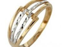 Кольцо 01-0618(2108) Р-р:18.0 Золото 585 (14K) вес 1.88 гр.