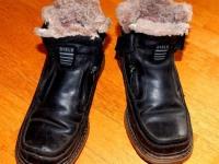Мужские меховые ботинки р.40
