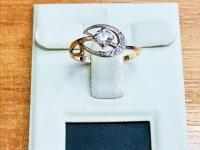 Кольцо  Золото 585 (14K) вес 1.25 г