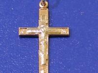 Крест Золото 585 (14K) вес 1.38 гр.