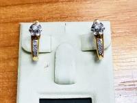 Серьги Золото 585 (14K) вес 3.70 г