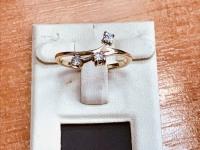 Кольцо с камнями  Золото 585 (14K) вес 2.43 г