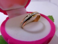 Кольцо Золото 585 (14K) вес 3.69 гр.