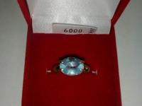 Кольцо с голуб камн Золото 585 (14K) вес 3.85 г