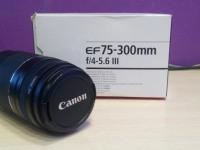 Объектив Canon EF 75-300mm f/4-5.6 III в коробке