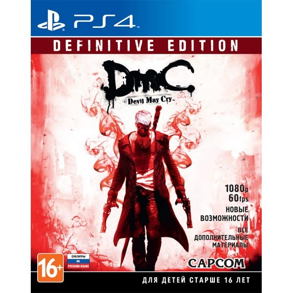 Диск PS4 DmC Devil May Cry. Definitive Edition