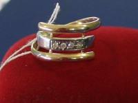 Кольцо ск Золото 585 (14K) вес 2.89 гр.