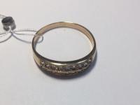 Кольцо с множеством белых камней Золото 585 (14K) вес 2.63 г