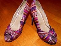 Женские туфли centro на выс. каблуке разноцветные